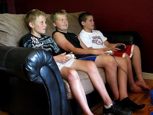 Kids Playing Online