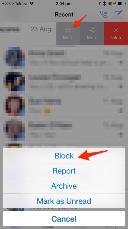 Blocking On Facebook Messenger