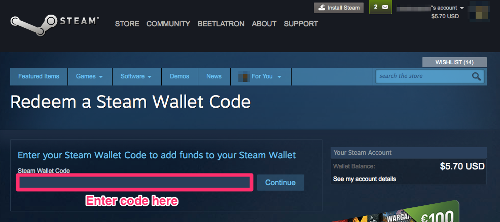 steam gift card buy
