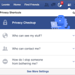 Facebook Dinosaur Privacy Check Up