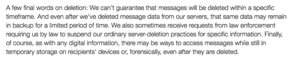 From Snapchats Privacy Terms