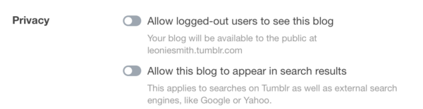 Tumblr Privacy