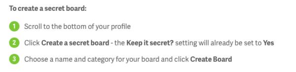 To create a secret board
