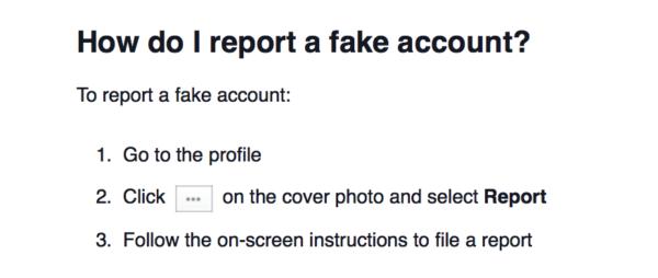 Report Fake Facebook Accounts