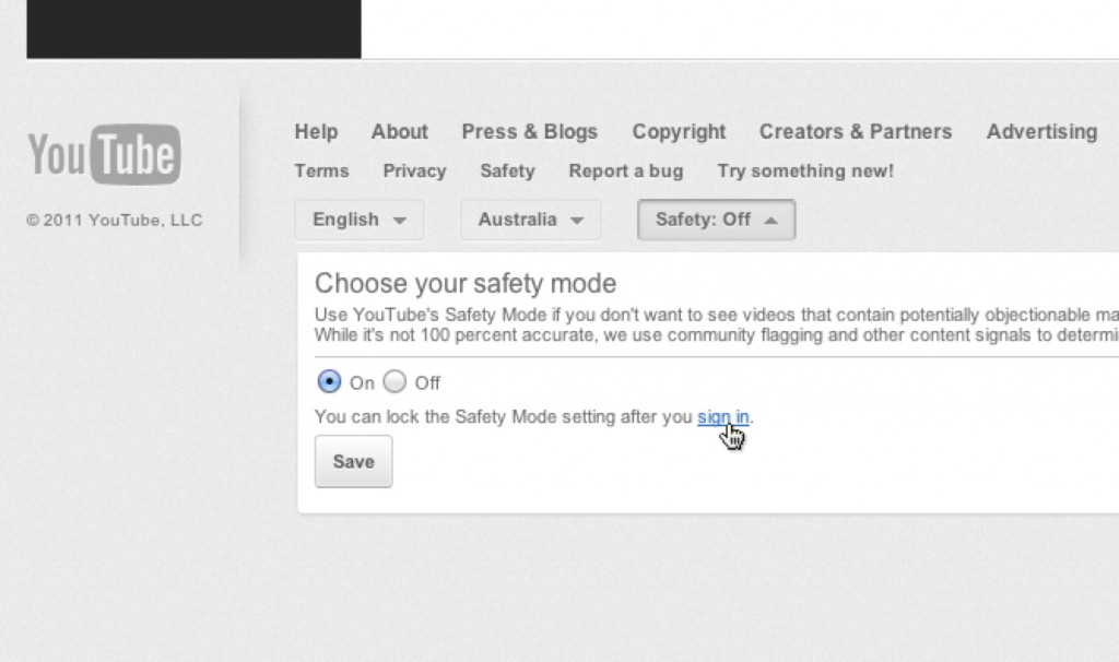 YouTube Safety Setting3