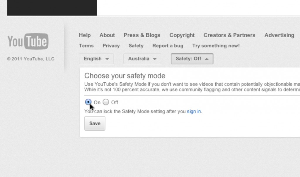 YouTube Safety Setting2