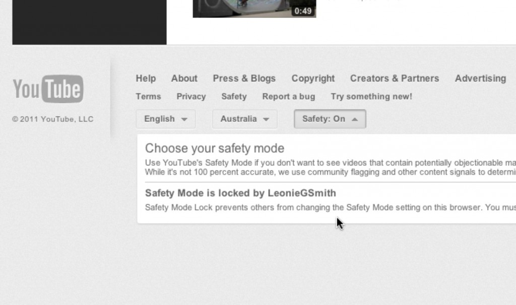 YouTube Safety Setting4