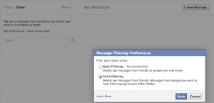 Filter message notifications