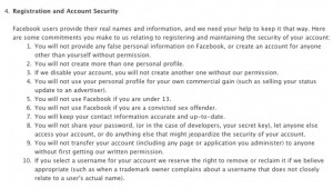 Terms Of Service Facebook