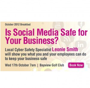 Leonie Smith Cyber Safety at Pittwater Business Limited Breakfast October