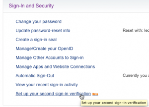 How to enable Two Step Verification on Yahoo