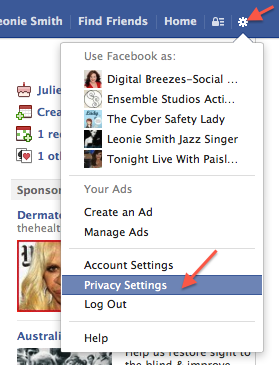 Go to the new privacy settings.