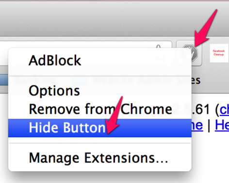 Hide AdBlock Icon From Menu Bar