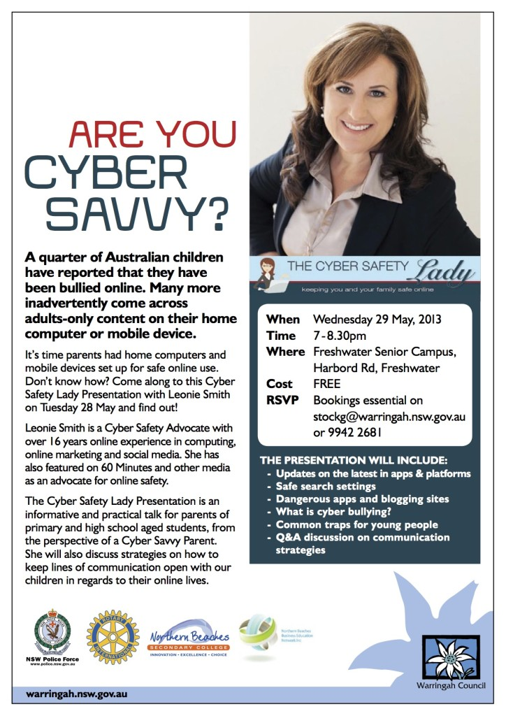May Cyber Safety Talk For Parents Northern Beaches