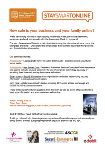 How Safe Is your business and your family online