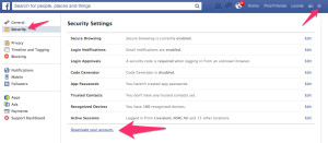 How To Disable Your Facebook Account