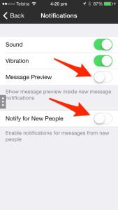 Kik Messenger Privacy Settings