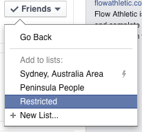 Add to restricted List