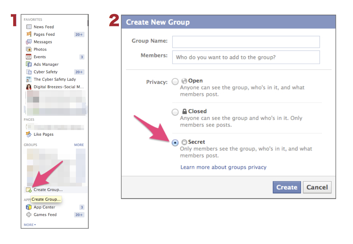 Create Secret Group Steps