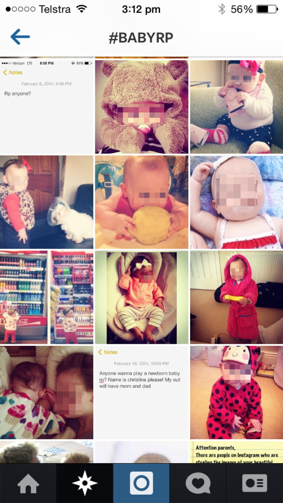 Stolen Baby Photos Used For Role Playing on Instagram