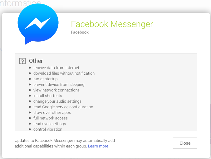 Facebook Messenger Terms Of Service