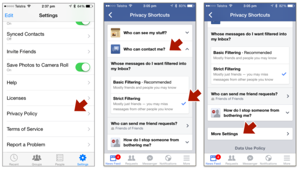 Facebook Messenger Privacy Settings