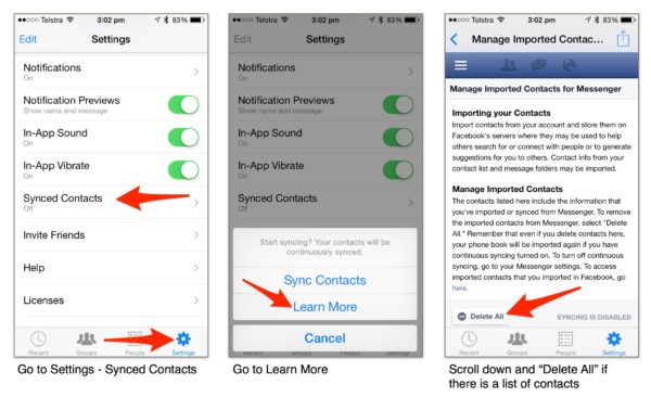 Clean Up Past Synced Contacts