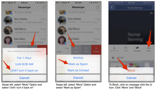 Blocking In New Facebook Messenger