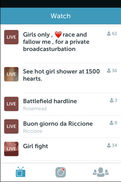 Adult content on Periscope
