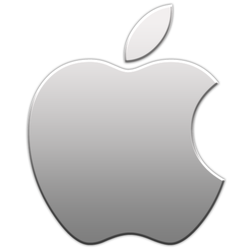 Apple logo icon - Aluminum