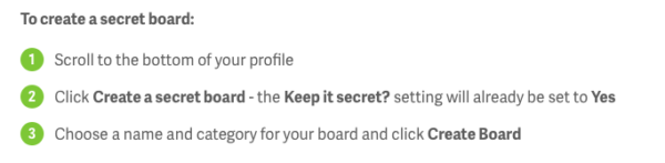 To create a secret board