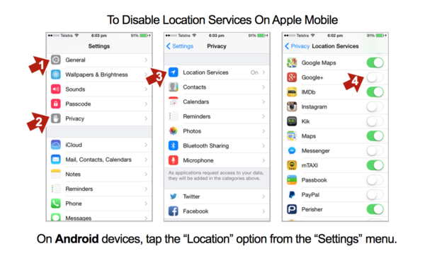 Location Privacy Settings