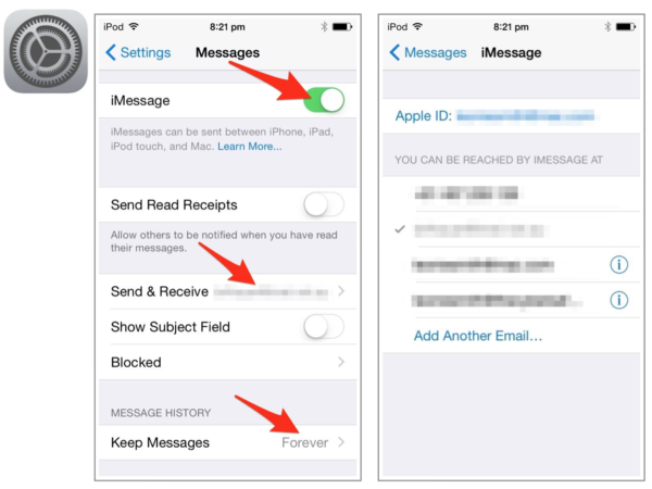 Apple Messages Sharing And Account With Your Child Settings