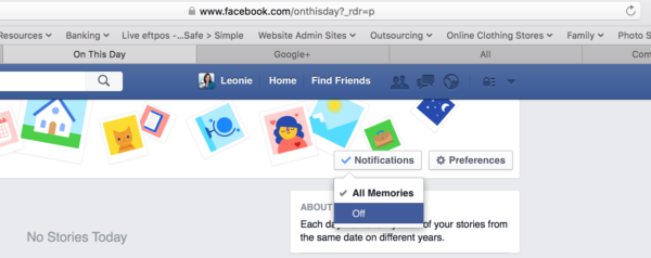 """Switch Facebook's """"On This Day"""" Off"""