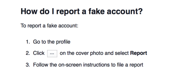 Report Fake Facebook Accounts