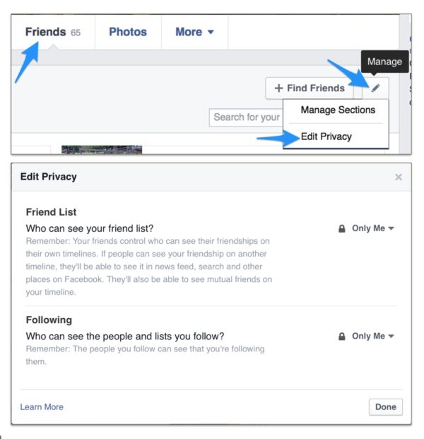 Hiding Your Friends List On Facebook