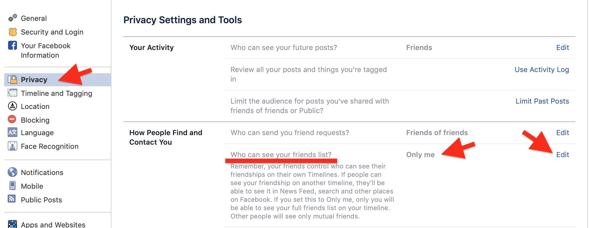 Hide Your Friends List On Facebook Profiles