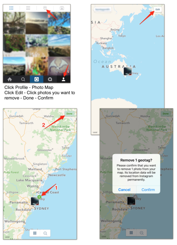 Remove Photos From Instagram Photo Map