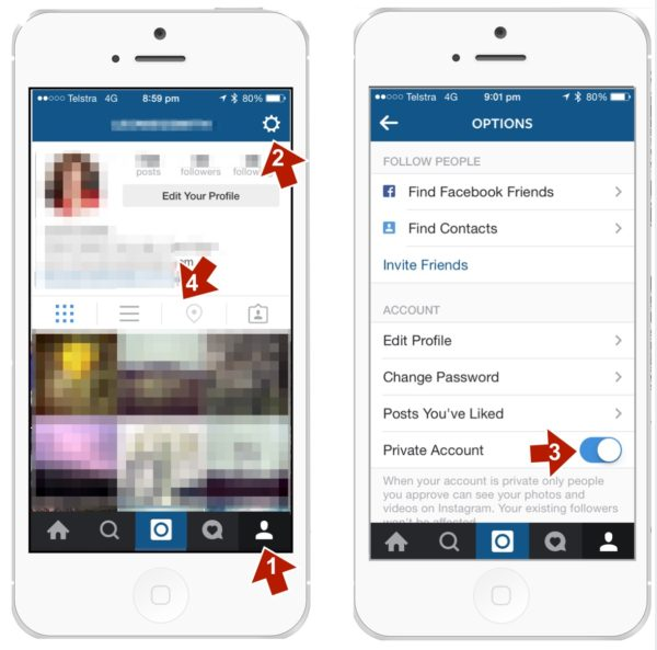 Setting Your Instagram to private
